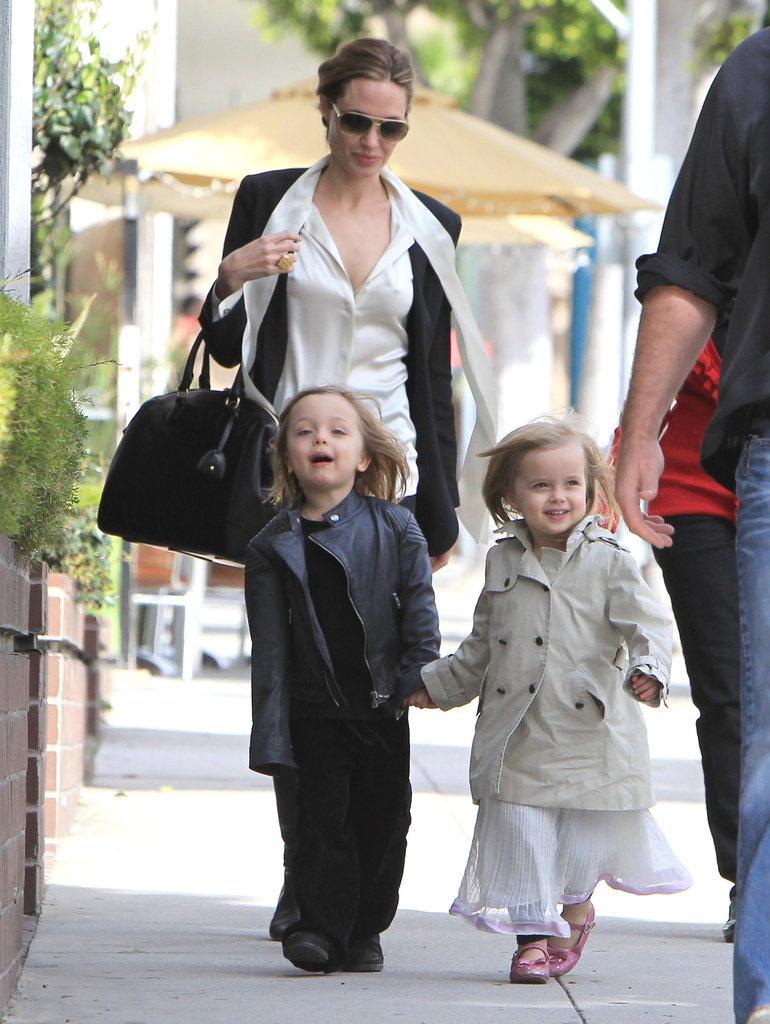 Angelina Jolie took her twins, Knox and Vivienne, shopping in Beverly Hills, CA, in February 2012.