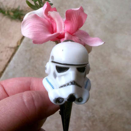 Star Wars Wedding Stormtrooper Boutonniere