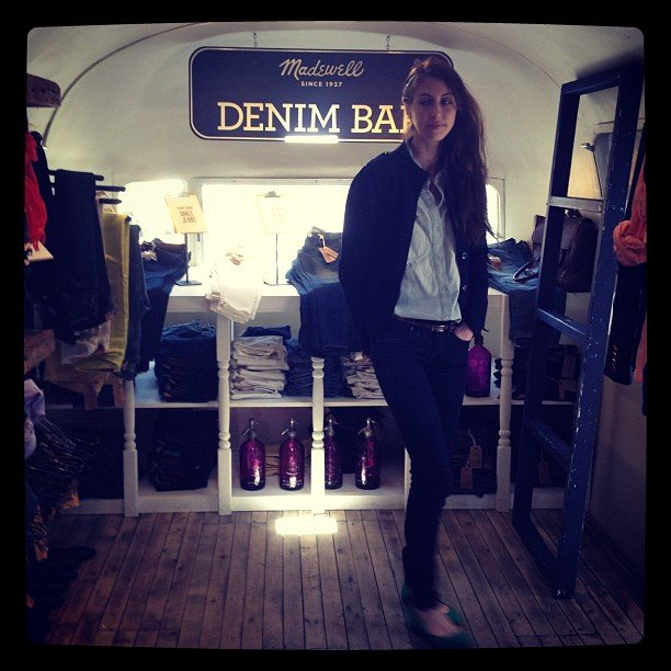 Before Madewell embarked on its major road trip, we hung out in the custom Airstream, complete with signature denim bar.