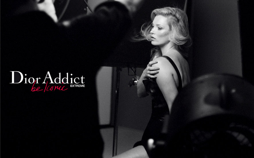 Kate Moss Sizzles For Dior Addict Extreme