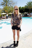 Kate Bosworth wore an animal print top to celebrate at Mulberry's party at the Parker Saturday.
