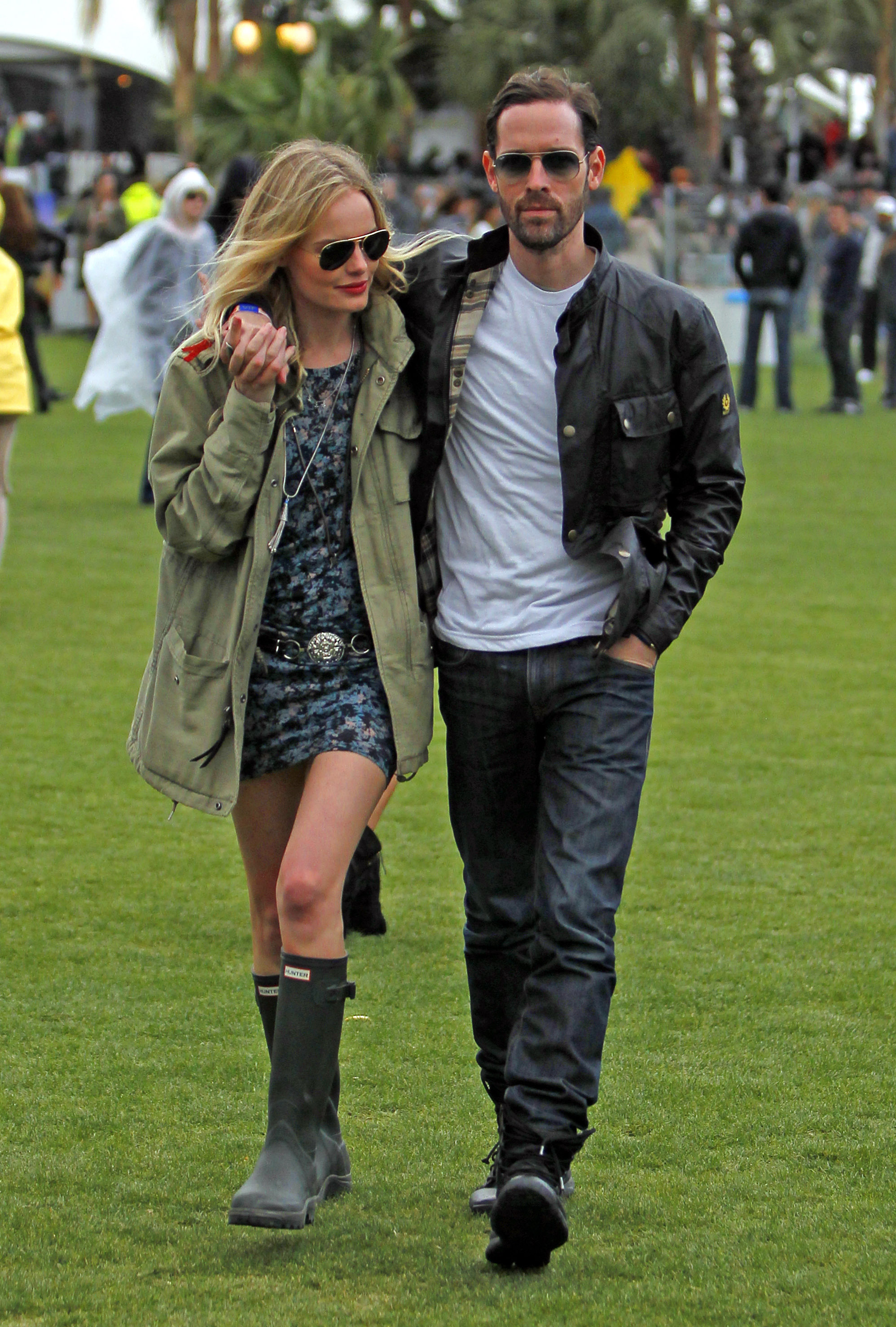 Kate Bosworth and Michael Polish showed PDA on the Coachella grounds Friday, when they checked out a performance by Arctic Monkeys. We spotted them holding hands as they walked through the VIP section in the a