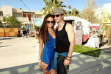 Nina Dobrev and Ian Somerhalder posed together at the Burton Snowboard BBQ at the Ace Hotel Saturday.