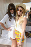 Lauren Conrad and Lea Michele posed together during the Lacoste Live! event on Saturday.