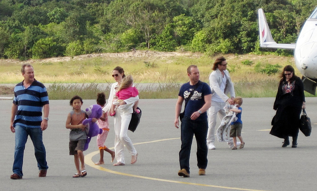 Angelina Jolie and Brad Pitt traveled to Con Dao island in Vietnam with the kids in November 2011.
