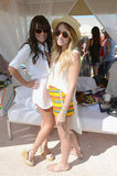 Lea Michele and Lauren Conrad looked Coachella-ready in white.