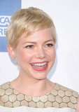Michelle Williams smiled for the camera at the Tribeca Film Festival.