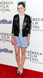 Emma Watson showed off her style at the Tribeca Film Festival.