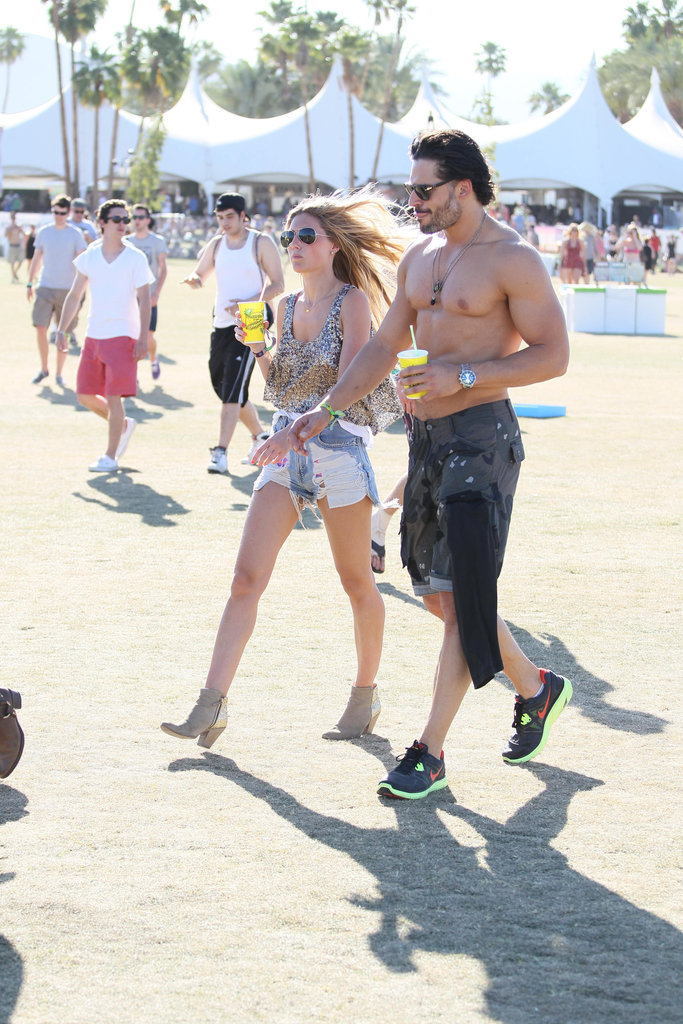 Joe Manganiello went shirtless in the desert at weekend two of Coachella.
