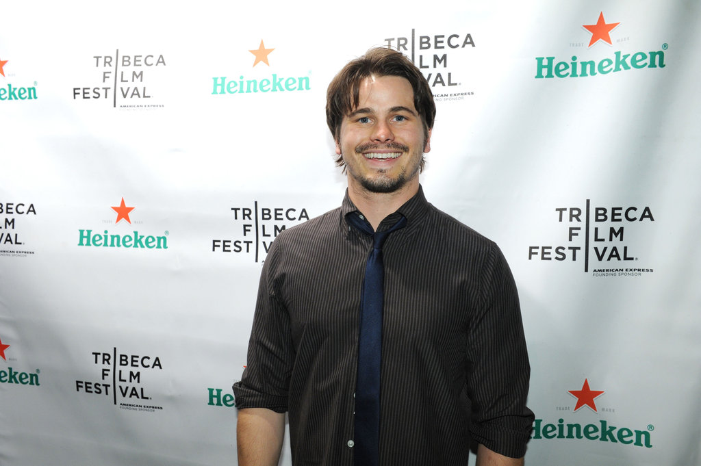 Jason Ritter posed for photos at the Tribeca Film Festival.