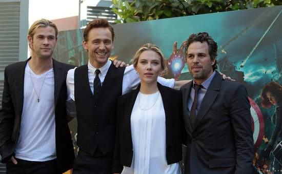 Scarlett Johansson, Chris Hemsworth, Mark Ruffalo, and Tom Hiddleston teamed up in Rome.
