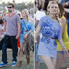 Diane Kruger Stripe Dress at Coachella 2012