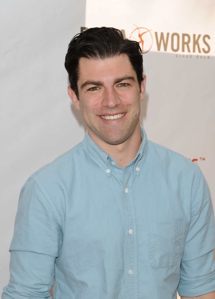 Max Greenfield posed for a few photos before enjoying the event with his daughter.