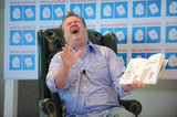 Eric Stonestreet got animated as he read to the kids.