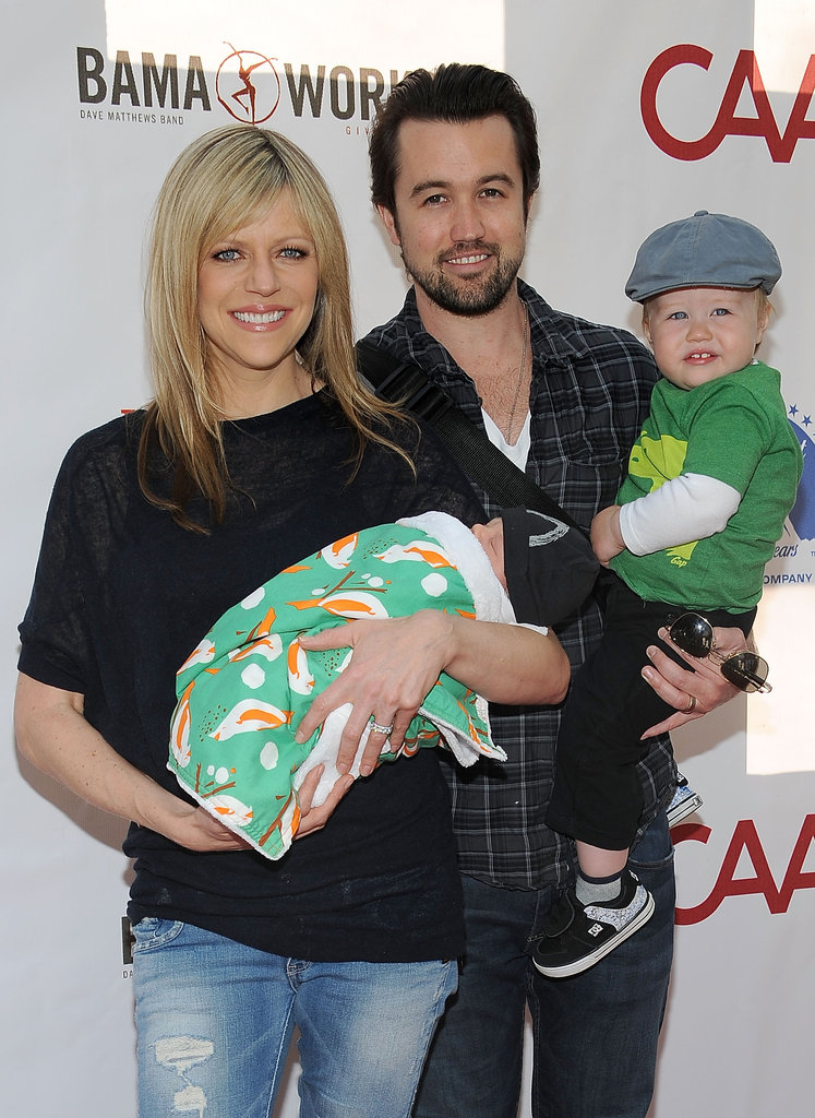 Kaitlin Olson and Rob McElhenney brought their adorable kids with them to the Milk and Bookies event in Los Angeles.