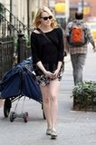 Emma Stone out and about in NYC.
