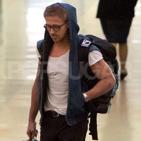Ryan Gosling walked through LAX.