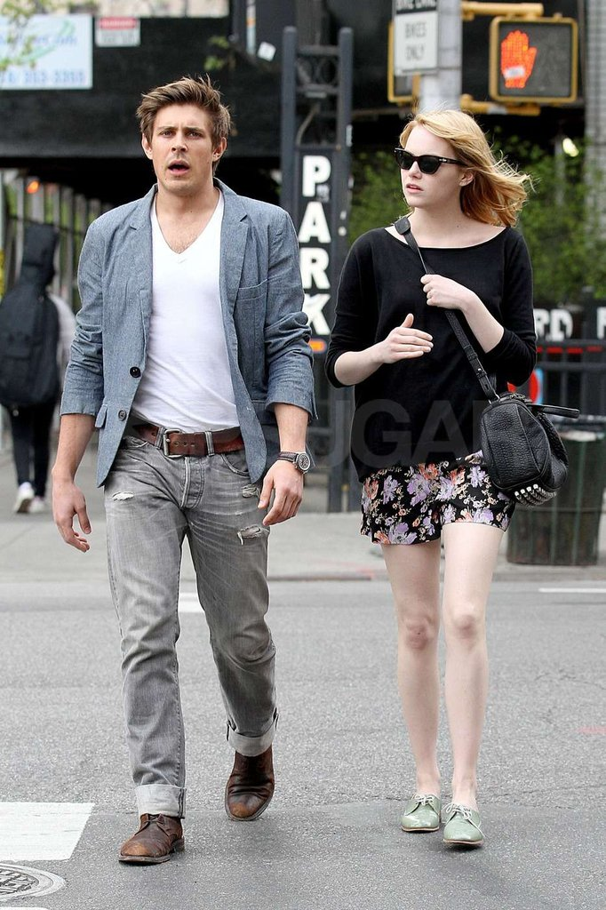 Emma Stone strolled in NYC with a friend.