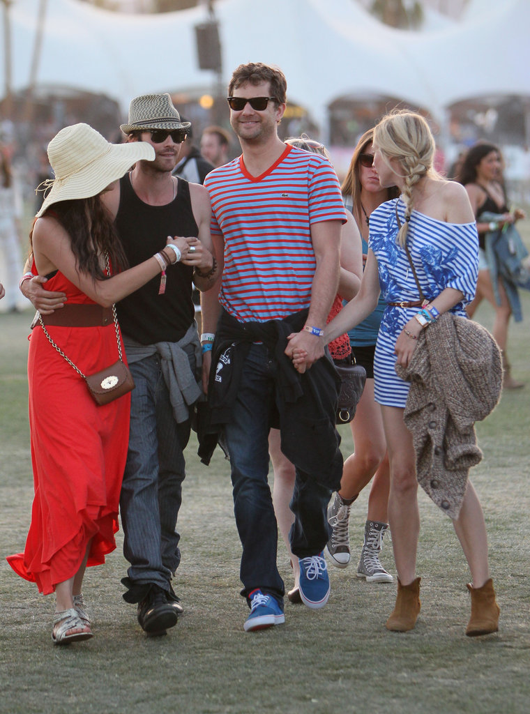 It was double the couple fun when Nina Dobrev and Ian Somerhalder met up with pals Diane Kruger and Joshua Jackson.