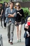 Emma Stone linked up with a friend for a walk around NYC.