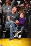 David Beckham had fun with his son Cruz Beckham at the Lakers game in LA.