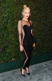 Gwen Stefani looked sporty and sexy in this sheer cutout Stella McCartney jumpsuit.