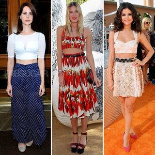 Crop Top Trend on Celebrities Spring 2012