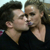 Katie Price's Union Jack Lip Art