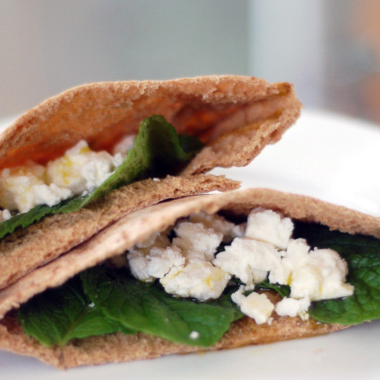 Pita Sandwiches With Mint and Feta