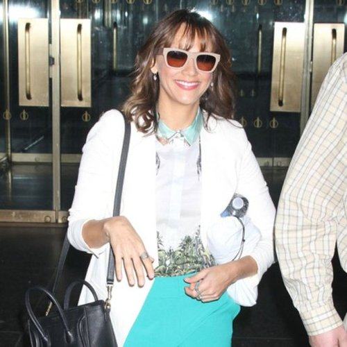 Rashida Jones Teal Shorts