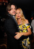 Rodger Berman and Rachel Zoe cozied up at Glamour's party in West Hollywood.