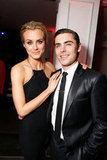 Taylor Schilling wand Zac Efron looked stunning as they posed together The Lucky One premiere in LA.