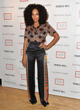 Solange Knowles posed at the 2012 Tribeca Ball in NYC.