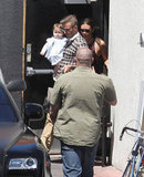 Victoria Beckham Celebrates Her Birthday at Lunch With David and Harper