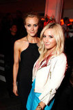 Taylor Schilling got together with Ashley Tisdale at the after-party for The Lucky One premiere in LA.