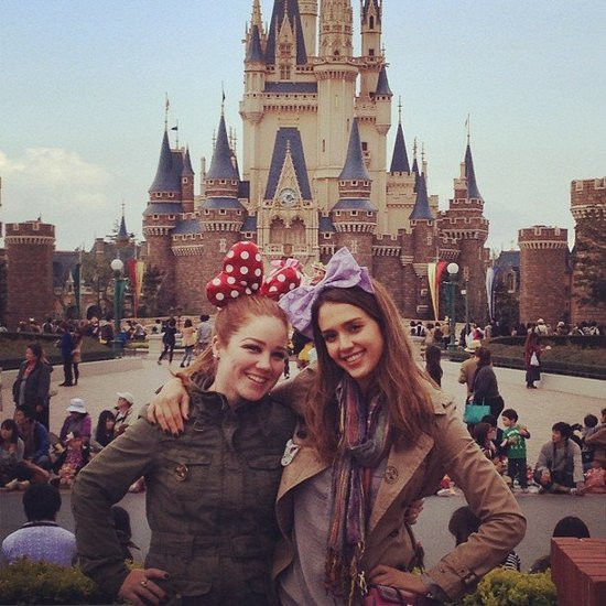 Jessica Alba wore a fun bow during her stay at the theme park. Source: Instagram User TheRealJessicaAlba