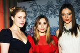 Elizabeth Olsen posed with Greta Gerwig and model Coco Rocha at the Grand Chefs Dinner in NYC.