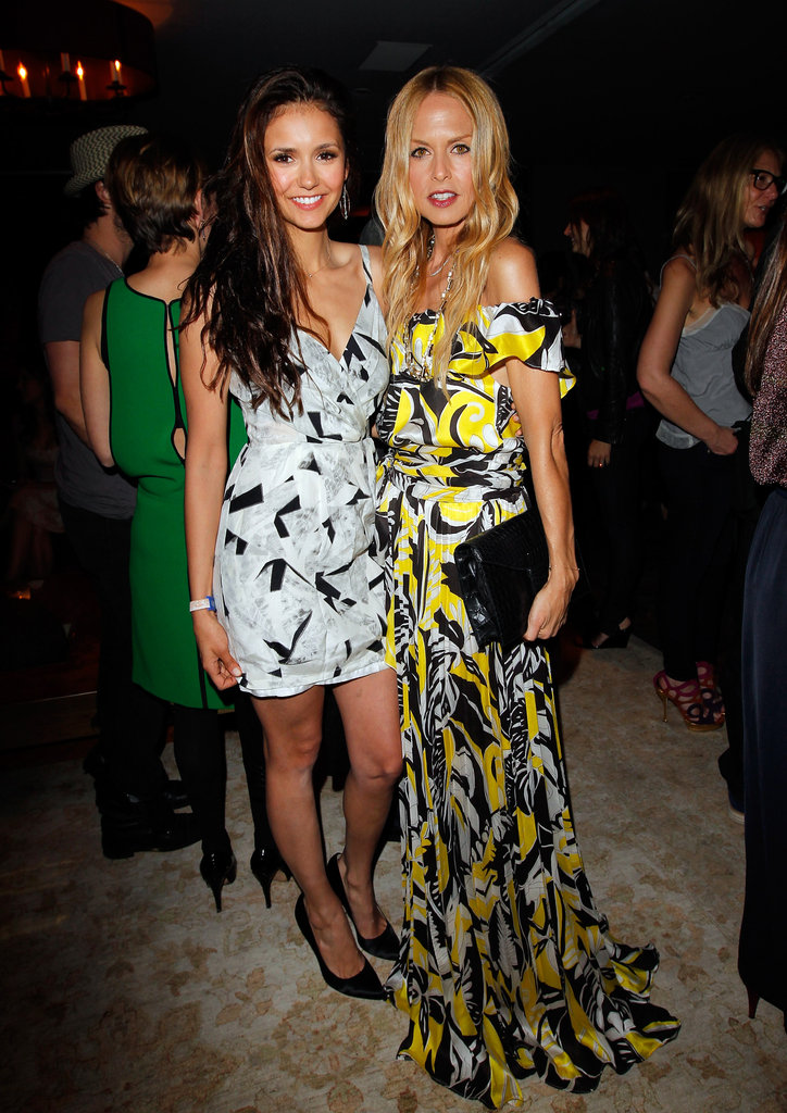 Rachel Zoe and Nina Dobrev hung out together at Glamour's book party in West Hollywood.