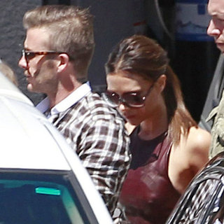 Victoria Beckham Lunch With David and Harper on Her Birthday