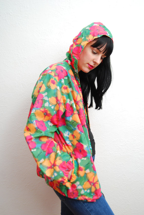 How cute would this rain jacket look on a gray Spring day?  YeYe Vintage Floral Rain Jacket ($18)