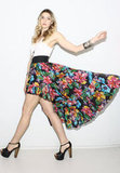 We love this swishy floral skirt, and the asymmetrical hem is super sexy.  American Archive Vintage Floral '70s Boho Skirt  ($78)