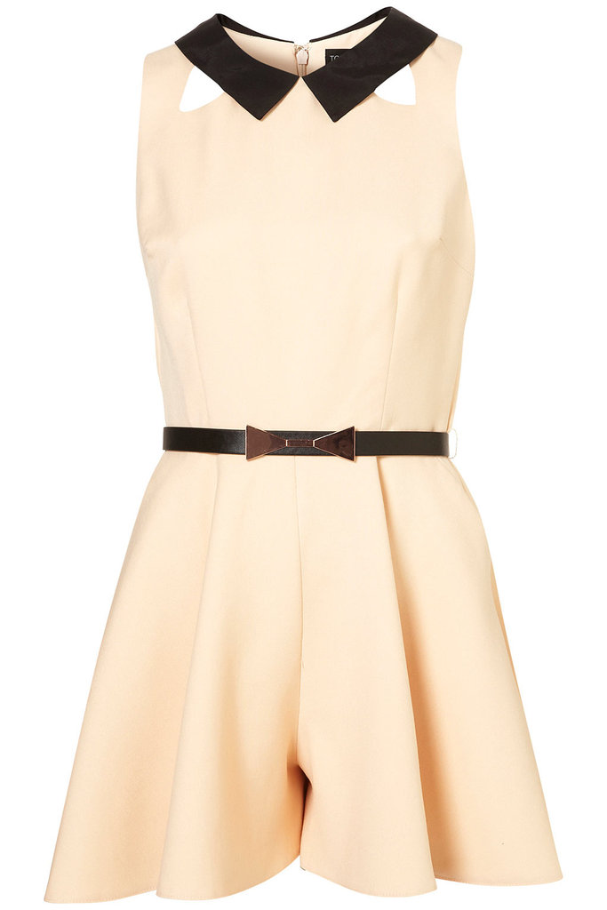OK, technically this is a romper — but the two-tone collar and cinched-in waist were too cute not to include.  Topshop Full Skirted Playsuit ($96)