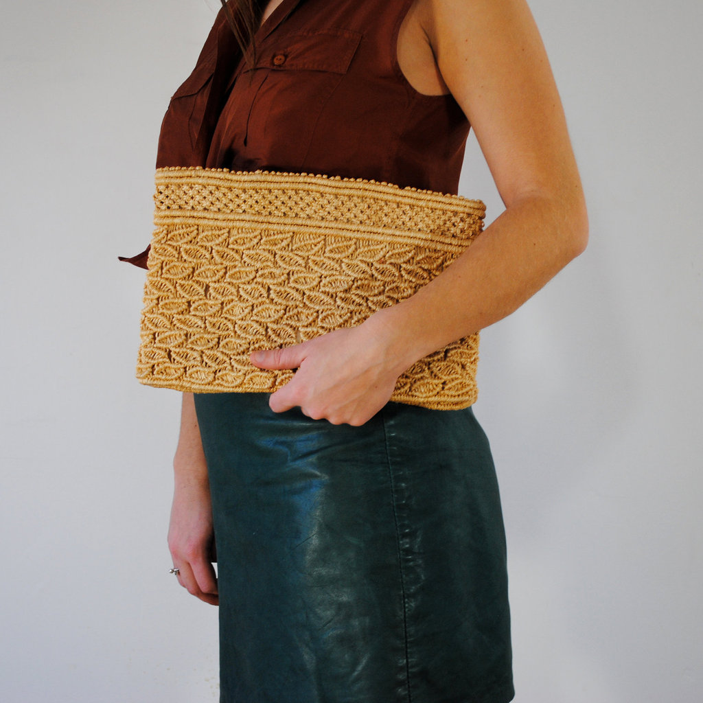 Woven accessories were big on the Spring '12 runways, and this clutch is a fun, trendy find. Maison D'hibou Vintage Woven Straw Clutch ($25)