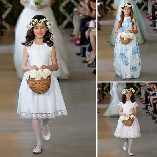 Oscar de la Renta Flower Girls Make Their Runway Debut!