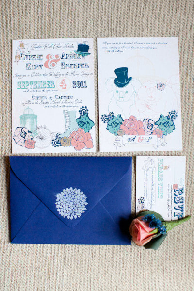 Victorian-Inspired Invitation Suite