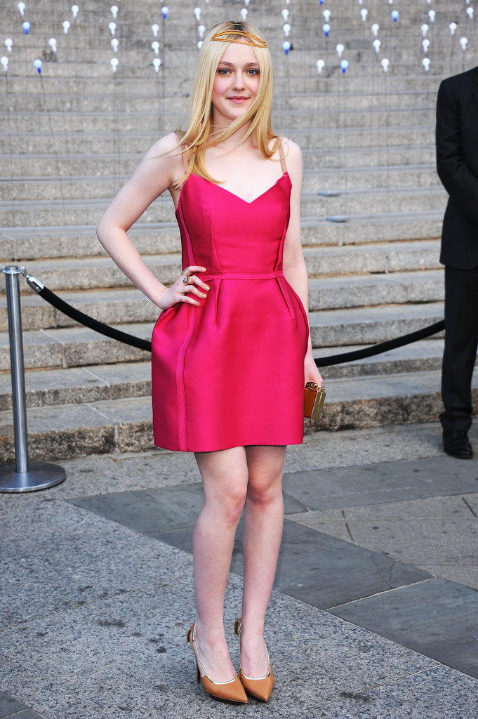 Dakota Fanning looked cute in a pink Lanvin dress at the Vanity Fair bash for the 2012 Tribeca Film Festival.