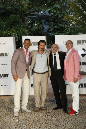 Will Smith, Josh Brolin, Pitbull, and Barry Sonnenfeld all came out to Cancun in support of MIB3.