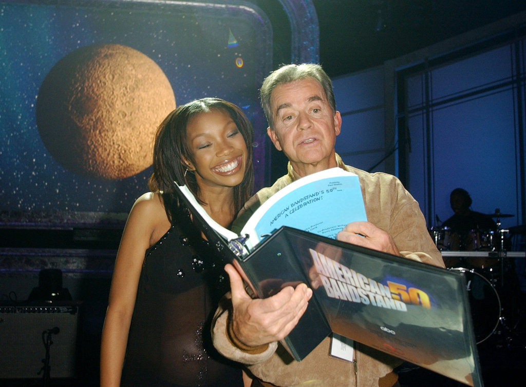 Dick Clark and Brandy taped American Bandstand in 2002.
