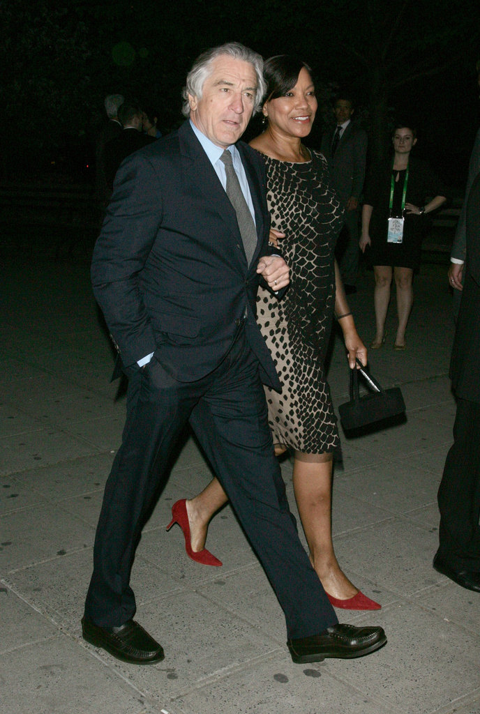 Robert De Niro and wife Grace Hightower were arm in arm arriving at the bash thrown by Vanity Fair.