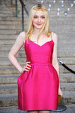 Dakota Fanning wore a headpiece with her pink Lanvin dress to the Vanity Fair Party at the 2012 Tribeca Film Festival.